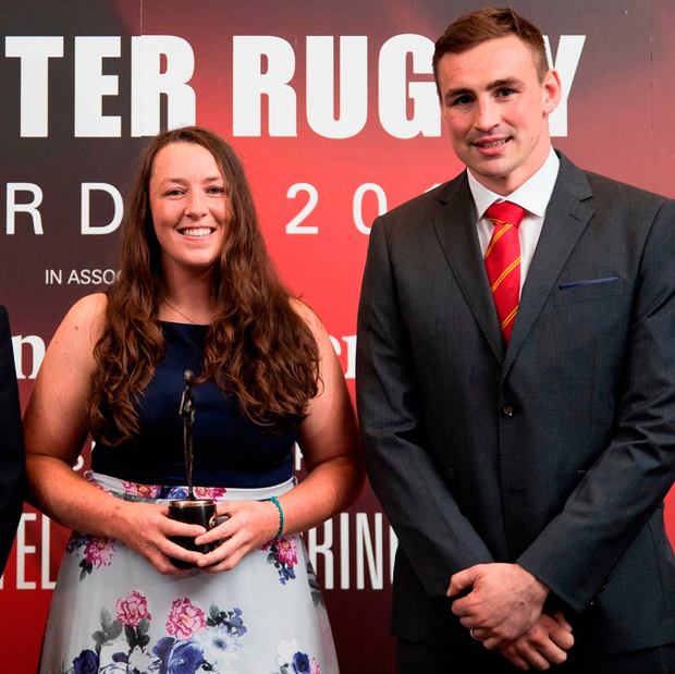 Women's player of the year Gill Bourke with Tommy O'Donnell
