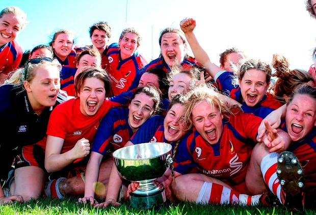 UL Bohemians celebrate their women's AIL Division 1 final victory