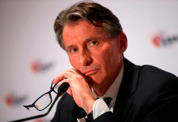 IAAF President Sebastian Coe. Photo: Reuters