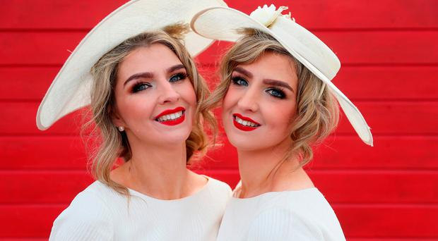 Ladies turn up style at Punchestown Festival