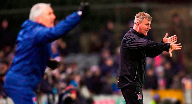 John Caulfield and Stephen Kenny will lock horns again at Turner's Cross tonight. Photo: Stephen McCarthy/Sportsfile