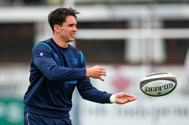9 April 2018; Joey Carbery during Leinster Rugby squad training at Energia Park in Donnybrook, Dublin. Photo by David Fitzgerald/Sportsfile