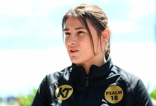 26 April 2018; Katie Taylor during a press conference, at Mondrian Park Avenue, ahead of her Straight Outta Brooklyn fight night bout with Victoria Bustos in New York, USA. Photo by Stephen McCarthy/Sportsfile
