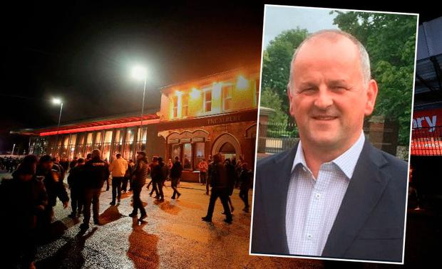 Sean Cox from Dunboyne (inset) remains in critical condition in hospital