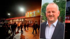 Sean Cox from Dunboyne (inset) remains in hospital