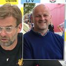 Jurgen Klopp has said he was stunned when he was informed that that Sean Cox (inset) had been seriously injured in a violent attack ahead of the Champions League semi-final
