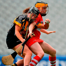 Amy Lee in action for Cork against Kilkenny's Sarah Walsh (left). Photo: Eóin Noonan/Sportsfile