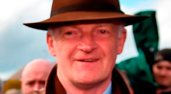 Trainer Willie Mullins secured his 12th title at Punchestown yesterday. Photo: Seb Daly/Sportsfile