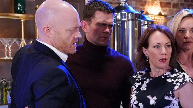 A twist in the tale of Max Branning (left) and Rainie Cross (BBC/Kieron McCarron)
