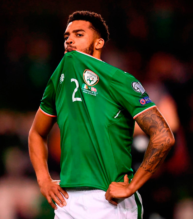 TOUGH GOING: Cyrus Christie has started only one game for Fulham since his move. Photo: Stephen McCarthy/Sportsfile