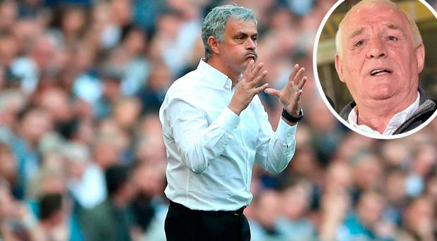 Jose Mourinho and (inset) Eamon Dunphy