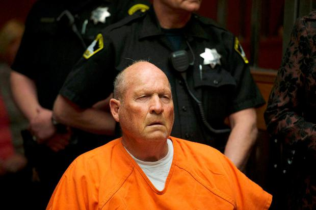 Joseph James DeAngelo, 72, who authorities said was identified by DNA evidence as the serial predator dubbed the Golden State Killer, appears at his arraignment in California Superior court in Sacramento, California, U.S., April 27, 2018. Sacramento Bee/Randy Pench/Pool via REUTERS