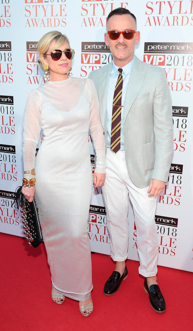 Sonya Lennon and Brendan Courtney at the Peter Mark VIP Style Awards 2018 at The Marker Hotel in Dublin. Picture: Brian McEvoy