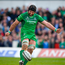 28 April 2018; John Muldoon of Connacht kicks a conversion during the Guinness PRO14 Round 21 match between Connacht and Leinster at the Sportsground in Galway. Photo by Brendan Moran/Sportsfile