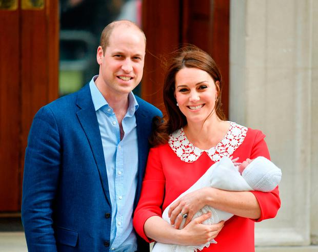 PRESSURE: The Duchess of Cambridge leaves hospital with her third child