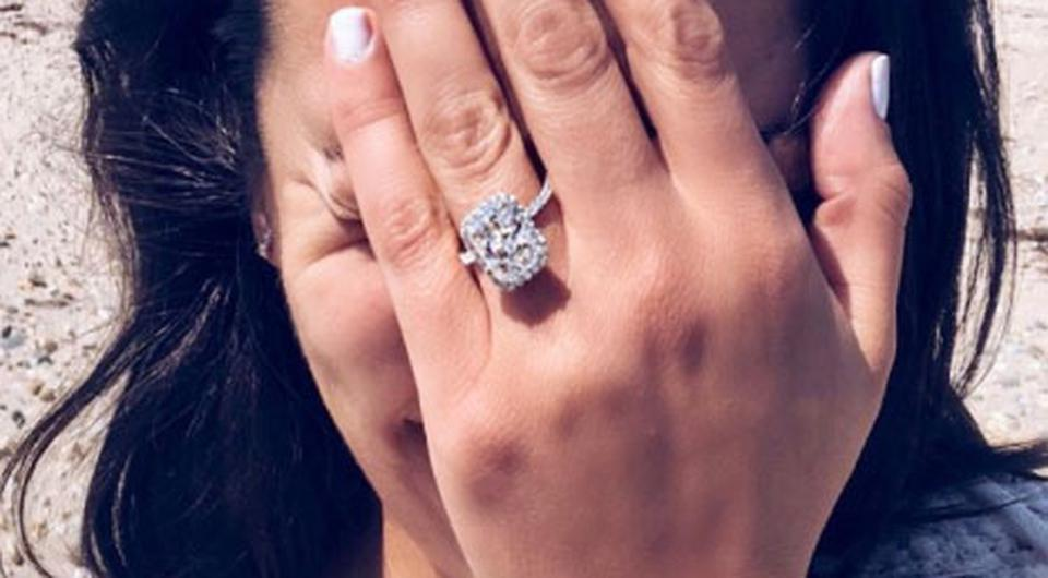 Lea Michele posted this photo of her engagement ring