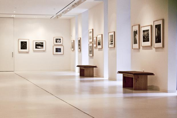 Stock image of modern art gallery
