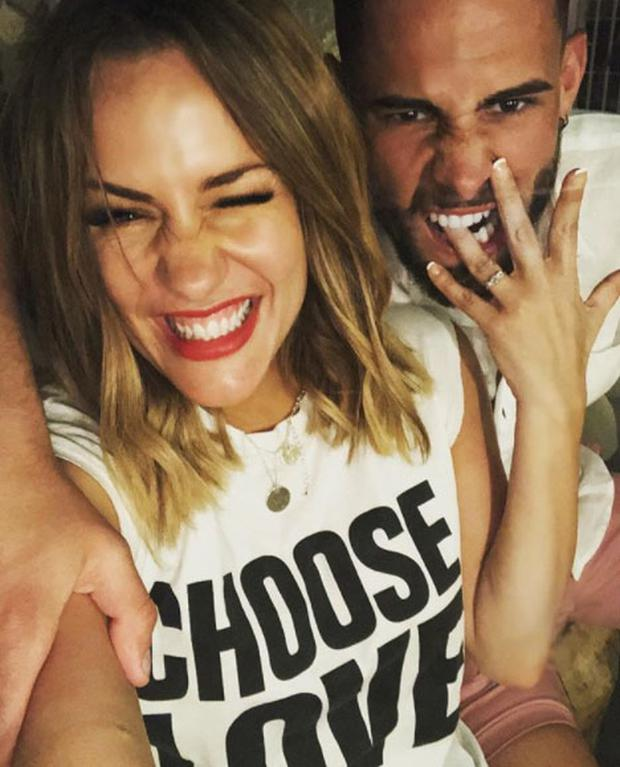 Caroline Flack announced her engagement to Andrew Brady