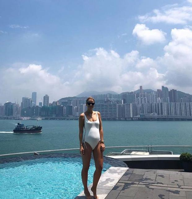Vogue Williams filming in Hong Kong. Picture: Instagram