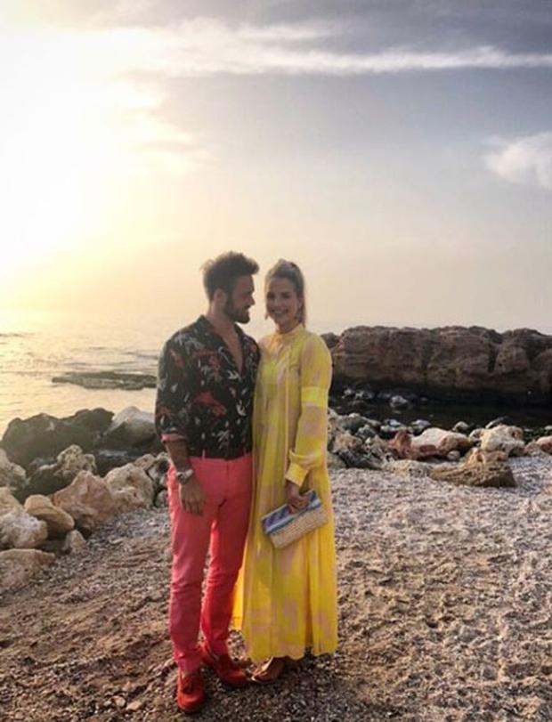 Spencer Matthews and Vogue Williams in Crete. Picture: Instagram