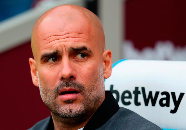 Manchester City manager Pep Guardiola. Photo: Catherine Ivill/Getty Images