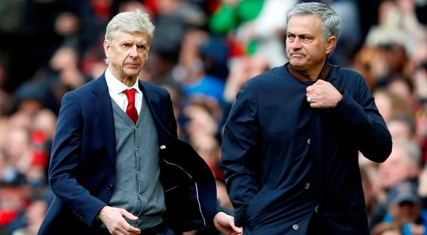 Arsene Wenger and Jose Mourinho were bitter enemies during their time in English football