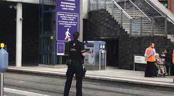 Members of the ERU are at the scene at Dublin's Connolly Station. Photo: Amy Molloy