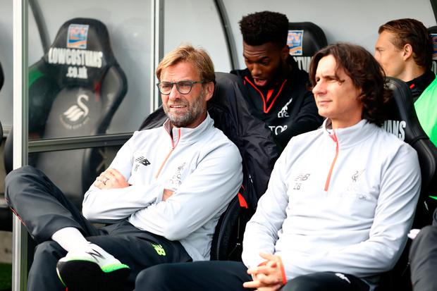 The relationship between Liverpool manager Jurgen Klopp and his assistant Zeljko Buvac has become more distant recently. Photo: Julian Finney/Getty Images