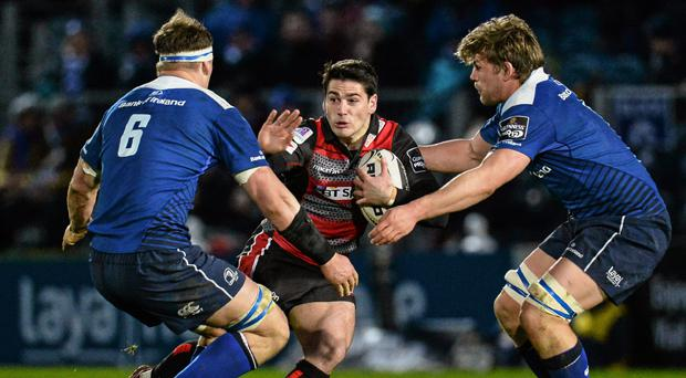 Sam Hidalgo-Clyne in action against Leinster