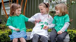 Pictured today at the launch of the Coeliac Society of Irelands Coeliac Awareness Week 2018, Rose and Martha Killion aged 4 from Sandymount, with Amelia Carmody, (centre) aged 6, from Ashtown. Coeliac Awareness Week takes place nationwide May 14-20 this year, the Coeliac Society of Ireland are highlighting the impact of coeliac disease on families, and in particular, children. Photo: Marc O'Sullivan