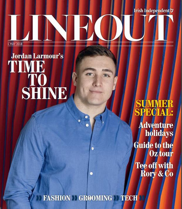 The cover of Lineout magazine