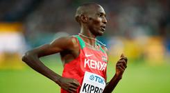 LONDON, ENGLAND - AUGUST 11: Asbel Kiprop of Kenya competes in the Men's 1500 metres semi finals during day eight of the 16th IAAF World Athletics Championships London 2017 at The London Stadium on August 11, 2017 in London, United Kingdom. (Photo by Andy Lyons/Getty Images for IAAF)