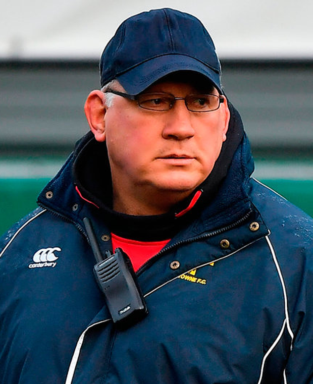 Lansdowne coach Mike Ruddock. Photo: Brendan Moran/Sportsfile