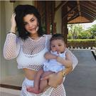 Kylie Jenner with baby daughter Stormi. Picture: Instagram