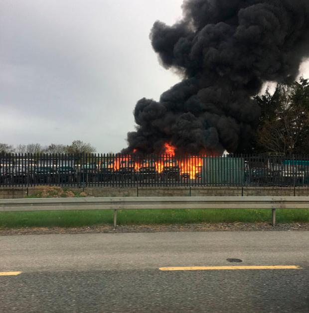 Fire in Kill on Thursday morning (Photo: SoftWash.ie)