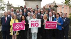 The exclusive photograph, obtained by Independent.ie, shows for the first-time the number of Fianna Fail TDs who are opposed to repealing the Eighth Amendment