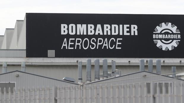 Shares in aircraft maker Bombardier have plunged to their lowest level in two years (Niall Carson/PA)
