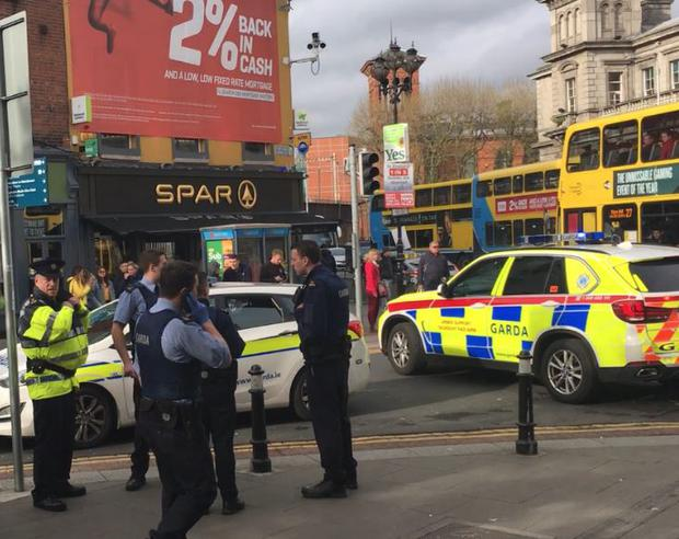 Emergency services were alerted to the scene on Talbot Street shortly after 6pm after a man claimed to have been attacked nearby.