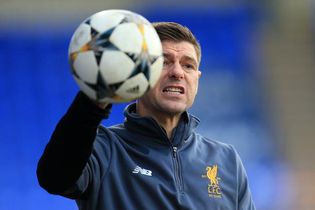 Steven Gerrard, who has been strongly linked with the vacant Rangers job, has to make his own judgements and mistakes to truly grow as a coach. Photo: Simon Stacpoole/Offside