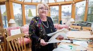 Former Fine Gael TD Monica Barnes last month with letters she received during the previous abortion referendum in 1983