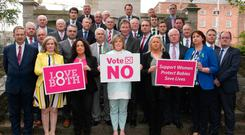 Members of the Fianna Fáil party supporting a no vote in the referendum on the 8th Amendment