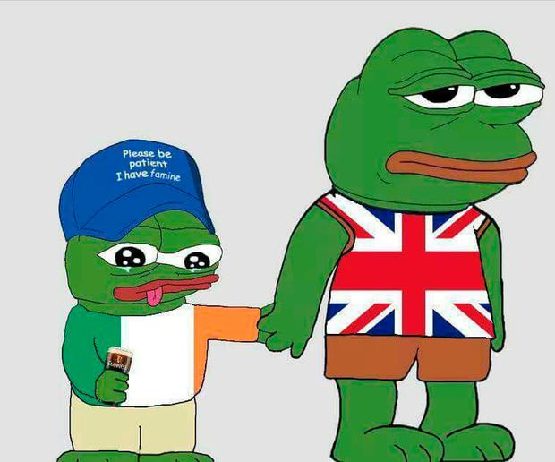 "The cartoon frog in the picture, known as ""Pepe"", was adopted a number of years ago by far-right social media trolls to target, among others, autistic children."