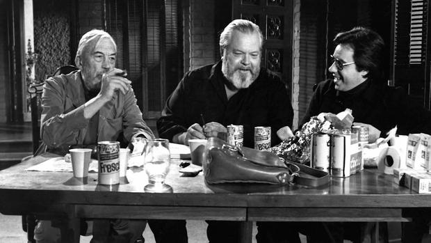 Final call: Huston, Welles and Bogdanovich on the set of The Other Side of the Wind