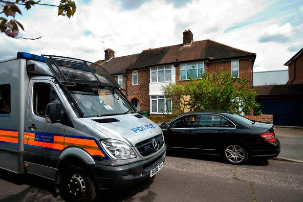 Police presence outside the home of Richard Osborn-Brooks in South Park Crescent as the funeral of burglar Henry Vincent. Mr Osborn-Brooks fatally stabbed Vincent during a botched burglary.David Mirzoeff/PA Wire