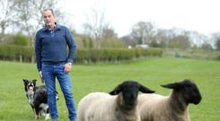 Farmer Packie Donnelly at his farm in Ballymena