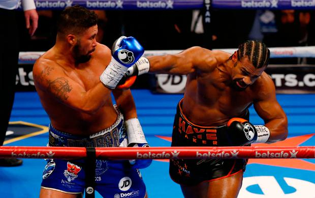 Tony Bellew beat David Haye in their eagerly anticipated re-match