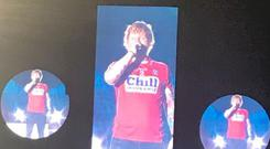 Ed in Cork jersey. PIC: Orla O'Leary/Twitter
