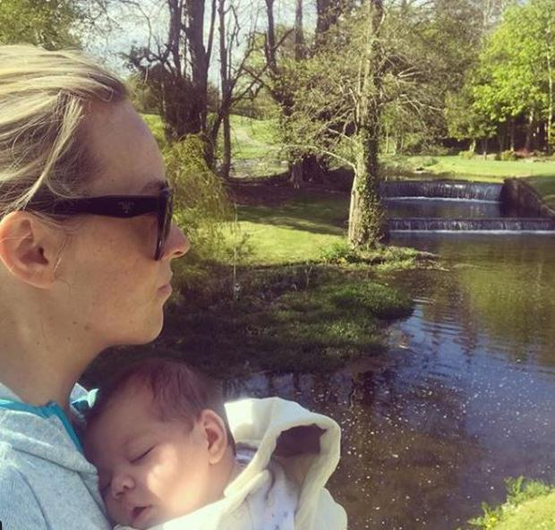 Kathryn Thomas and baby Ellie at Druids Glen Hotel & Golf Resort PIC: Kathryn Thomas/Instagram
