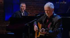 Paul Harrington and Charlie McGettigan sing Rock n Roll Kids on the Late Late Show, RTE One
