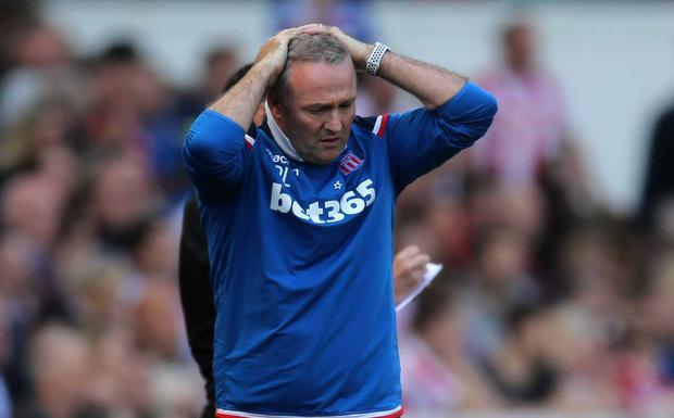 Stoke manager Paul Lambert forced to contemplate relegation from the Premier League